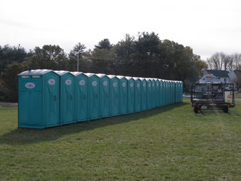 Portable Toilets with truck